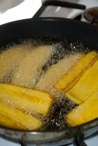 Fry the Plantain Slices