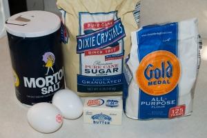 Ingredients for Venezuelan Churros