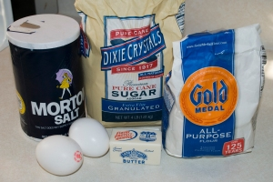 Ingredients for Venezuelan Churros