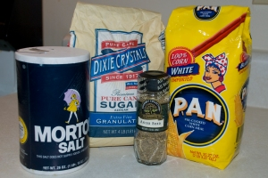 Ingredients for Arepitas Dulces
