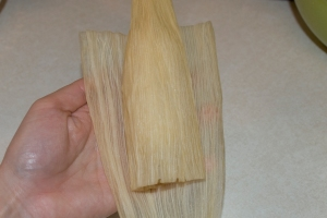 Wrap with 2nd corn husk