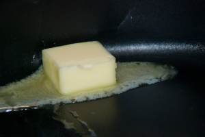 Heat up Butter and Olive Oil