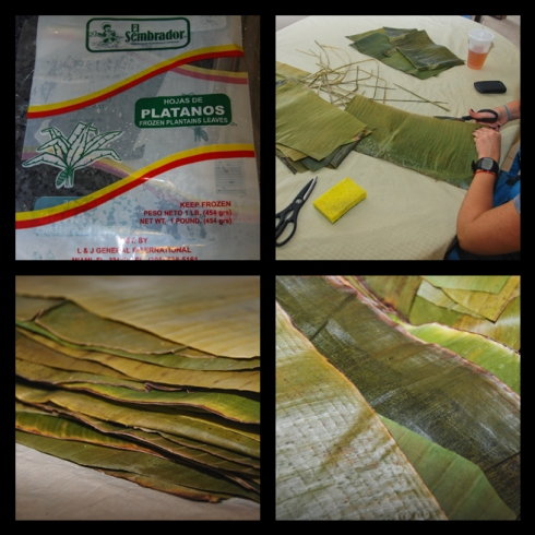 The Making of Venezuelan Hallacas: Las Hojas de Plátano | The Plantain Leaves