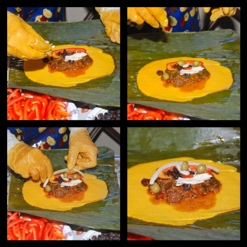 The Making of Venezuelan Hallacas: Adding the Filling