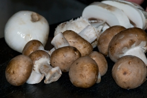 Slice Mushrooms