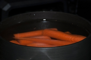 Cook the carrots separately