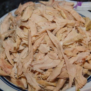 Garnish : Shredded Chicken