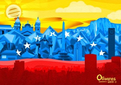 "Oscar Olivares Venezuelan Artist at Expo Sentir Venezuela 2015. ""Unidad"""